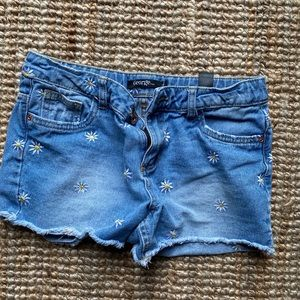 Girl's denim shorts.